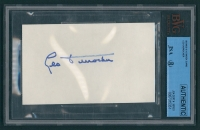 Leo Durocher Signed 3x5 Cut (JSA Encapsulated) at PristineAuction.com