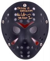 "Ari Lehman Signed Jason ""Friday the 13th"" Custom Matte Black Hockey Mask Inscribed ""Jason is Watching!"" & ""Jason 1"" (PA COA) at PristineAuction.com"