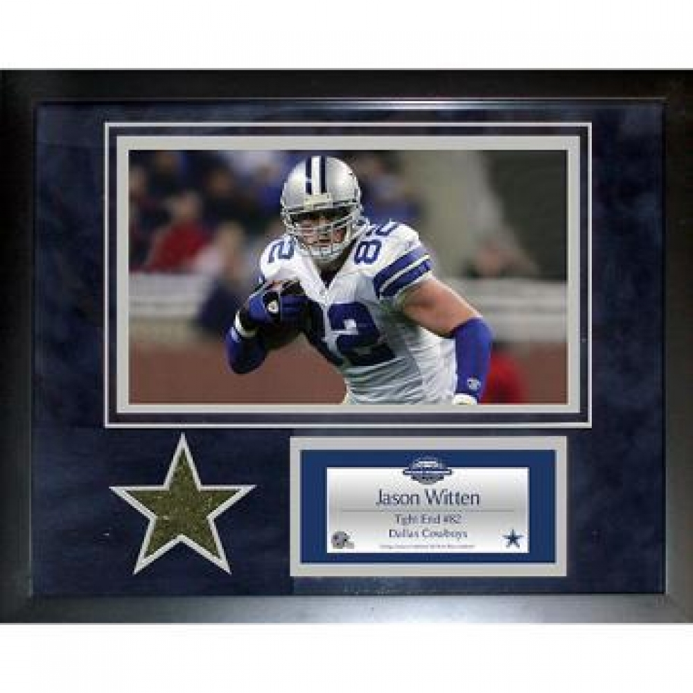 jason witten dallas cowboys 11x14 framed collage with game. Black Bedroom Furniture Sets. Home Design Ideas