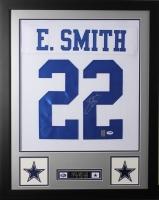 Emmitt Smith Signed Cowboys 24x30 Custom Framed Jersey (PSA COA & GTSM) at PristineAuction.com