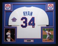 "Nolan Ryan Signed Rangers 35"" x 43"" Custom Framed Jersey (MLB) at PristineAuction.com"