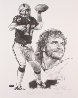 """Ken Stabler Signed Raiders Limited Edition 16"""" x 20"""" Lithograph #447/500 (Stabler LOA) at PristineAuction.com"""