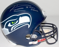 """Russell Wilson Signed Seahawks Full-Size Helmet Inscribed """"SB XLVII Champs"""" (Wilson COA) at PristineAuction.com"""