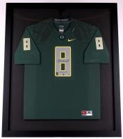 "Marcus Mariota Signed LE Oregon 35x41 Custom Framed Jersey Inscribed ""Heisman '14"" #6/50 (Steiner COA & Mariota Hologram) at PristineAuction.com"