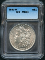 1883-O Morgan Silver Dollar (ICG MS 64) at PristineAuction.com