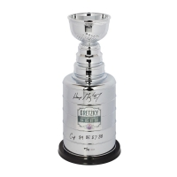 """Wayne Gretzky Signed High Quality Replica LE Oilers Stanley Cup Trophy Inscribed """"Cup 84 85 87 88"""" (UDA COA) at PristineAuction.com"""