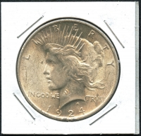 1924 Peace Silver Dollar at PristineAuction.com