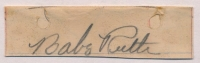 """Babe Ruth Signed 0.75"""" x 2.5"""" Vintage Cut (JSA LOA) at PristineAuction.com"""