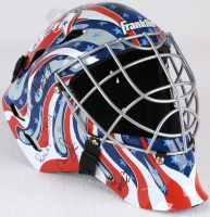 """1980 Team USA Hockey """"Miracle on Ice"""" Full-Size Goalie Mask Signed by (19) with Mike Eruzione, Jim Craig, Ken Morrow, Jack O'Callahan, Rob McClanahan, Dave Silk, Buzz Schneider, Mark Wells, Neal Broten, (JSA COA) at PristineAuction.com"""