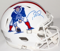 Tom Brady Signed Patriots Throwback Full-Size Authentic Pro-Line Speed Helmet (TriStar) at PristineAuction.com