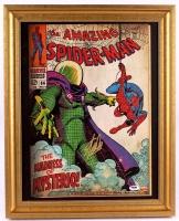 "Stan Lee Signed ""Spider-Man"" 17x21 Custom Framed Canvas Display (PSA COA) at PristineAuction.com"