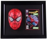 "Stan Lee Signed ""Spider-Man"" 20x24x8 Custom Framed Mask & Comic Book Display (PSA COA) at PristineAuction.com"