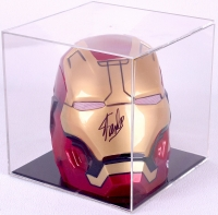 Stan Lee Signed 3-D Marvel Full Size Iron Man Mask in Display Case (PSA COA) at PristineAuction.com