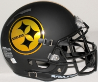 Pittsburgh Steelers Custom Matte Black Full-Size Authentic Proline Helmet (Unsigned) at PristineAuction.com