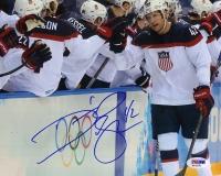 David Backes Signed Team USA 8x10 Photo (PSA COA) at PristineAuction.com