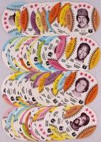1976 Isaly Complete Set of (70) Baseball Discs with #22A Reggie Jackson, #52 Nolan Ryan, #69 Carl Yastrzemski, #54 Mike Schmidt, #55 Tom Seaver, #5 Lou Brock, #51 Pete Rose, #48 Brooks Robinson, at PristineAuction.com