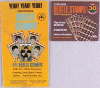Complete Set of (100) 1964 Hallmark Beatles Stamps with John Lennon, Paul McCartney, George Harrison & Ringo Starr in Original Packaging at PristineAuction.com