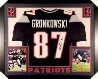 Rob Gronkowski Signed Patriots 35x43 Custom Framed Jersey (JSA COA) at PristineAuction.com