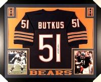 Dick Butkus Signed Bears 35x43 Custom Framed Jersey (JSA COA) at PristineAuction.com
