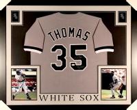 "Frank Thomas Signed White Sox 35x43 Custom Framed Jersey Inscribed ""Big Hurt"" (JSA COA) at PristineAuction.com"