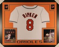 Cal Ripken Jr. Signed Orioles 35x43 Custom Framed Jersey (JSA COA) at PristineAuction.com