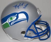 "Steve Largent Signed Seahawks Throwback Full-Size Helmet Inscribed ""HOF 95"" & ""7x Pro Bowl"" (Schwartz COA) at PristineAuction.com"