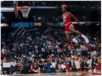 "Michael Jordan Signed Bulls 30x40 ""1988 Gatorade Slam"" Photo (UDA COA)"
