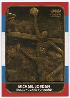 1986-87 Fleer Michael Jordan RC NBA 23K Gold Limited Edition Card at PristineAuction.com