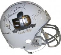 "Multi-Signed LE ""Super Bowl on The 50"" Full-Size Authentic Proline Helmet with (5) Signatures Including Tom Brady, Joe Montana, Joe Namath, Eli Manning & Terry Bradshaw (Steiner COA) at PristineAuction.com"
