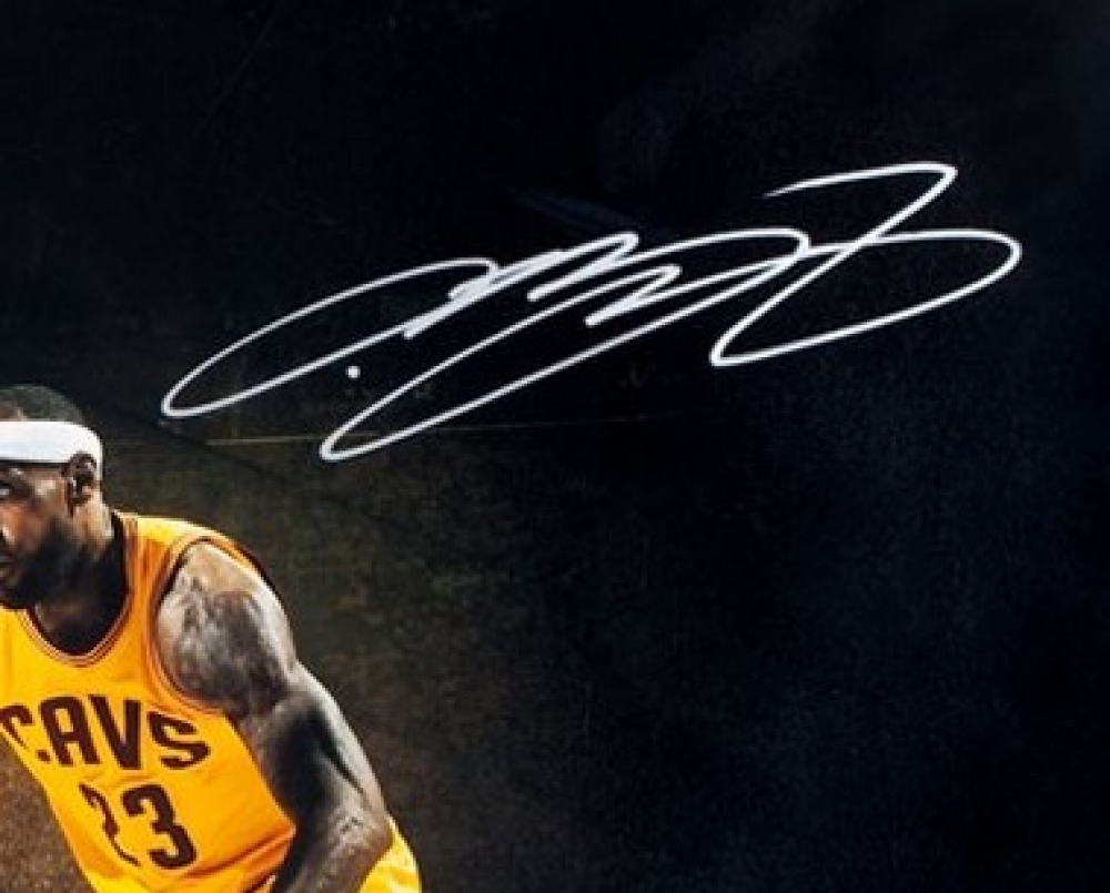 lebron james autograph - photo #8