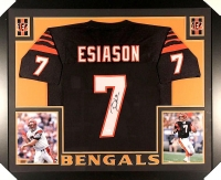 Boomer Esiason Signed Bengals 35x43 Custom Framed Jersey (JSA COA) at PristineAuction.com