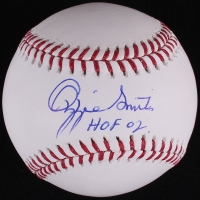 "Ozzie Smith Signed OML Baseball Inscribed ""HOF 02"" (JSA COA) at PristineAuction.com"