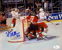 Stephane Matteau Signed Rangers 8x10 Photo (JSA COA) at PristineAuction.com