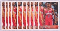 Lot of (10) Allen Iverson 1996-97 Topps #171 RC at PristineAuction.com