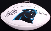 "Greg Olsen Signed Panthers Logo Football Inscribed ""Keep Pounding!"" (JSA COA) at PristineAuction.com"