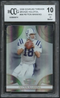 Peyton Manning 2008 Donruss Threads Bronze Holofoil #56 (BCCG 10) at PristineAuction.com