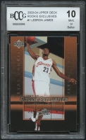 LeBron James 2003-04 Upper Deck Rookie Exclusives #1 (BCCG 10) at PristineAuction.com