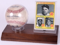 Baseball & Trading Card Display Case with Walnut Wood Base (New) at PristineAuction.com
