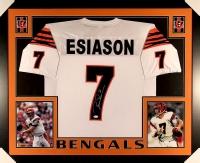 Boomer Esiason Signed Bengals 35x43 Custom Framed Jersey (JSA COA) at PristineAuction.com