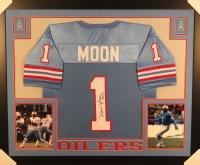 "Warren Moon Signed Oilers 35x43 Custom Framed Jersey Inscribed ""HOF 06"" (JSA COA) at PristineAuction.com"