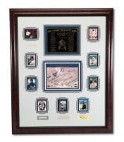 500 Home Run Club & Hall of Famers Multi-Signed 32x40 Custom Framed Display with (21) Signatures Including Babe Ruth, Jimmie Foxx, Mel Ott (PSA LOA) at PristineAuction.com