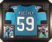 Luke Kuechly Signed Panthers 35x43 Custom Framed Jersey (JSA COA) at PristineAuction.com