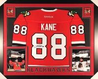 Patrick Kane Signed Blackhawks 35x43 Custom Framed Jersey (JSA COA) at PristineAuction.com