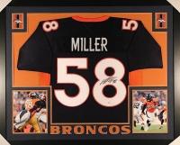 Von Miller Signed Broncos 35x43 Custom Framed Jersey (JSA COA) at PristineAuction.com