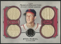 Stan Musial 2013 Topps Museum Collection Primary Pieces Legends Quad Relics #SM at PristineAuction.com