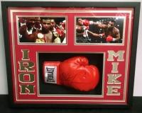Mike Tyson Signed 21x25x4 Custom Framed Shadowbox Boxing Glove Display (JSA)