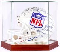 NFL Hall of Famers Multi-Signed NFL Full Size Proline Helmet with (37) Signatures including Johnny Unitas, Sammy Baugh, Dan Marino, Joe Montana (PSA LOA)