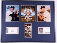 "Roger Maris & Mickey Mantle Signed Yankees ""The M&M Boys"" 50th Anniversary 24x30 Custom Framed FDC Envelope & Cut Display (PSA Encapsulated & PSA LOA)"