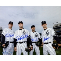 "Derek Jeter, Mariano Rivera, Andy Pettitte & Jorge Posada Yankees ""Core Four"" Multi-Signed 16 x 20 Photo (MLB & Steiner COA)"