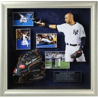 "Derek Jeter Signed Yankees 24x24 Custom Framed ""Golden Glove"" Display (Steiner COA)"